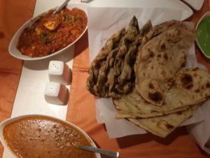 Paneer & Dal Makhani along with bread basket